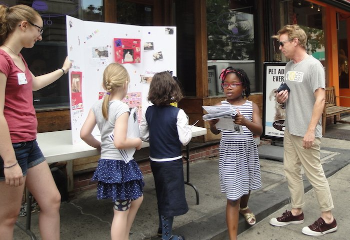 Kids tabling for animal shelter