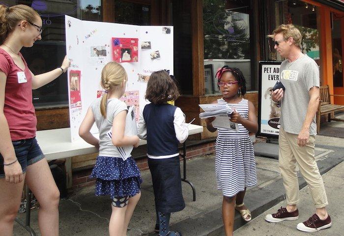 Kids tabling for animal shelter