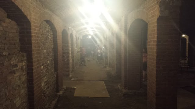We ended the day by surprising campers with a visit to the Catacombs beneath the Indianapolis City Market. Thanks to Stevi Stoesz for showing the kids this creepy, scary place, to learn about Indy's fascinating history — and maybe share a ghost story or two.