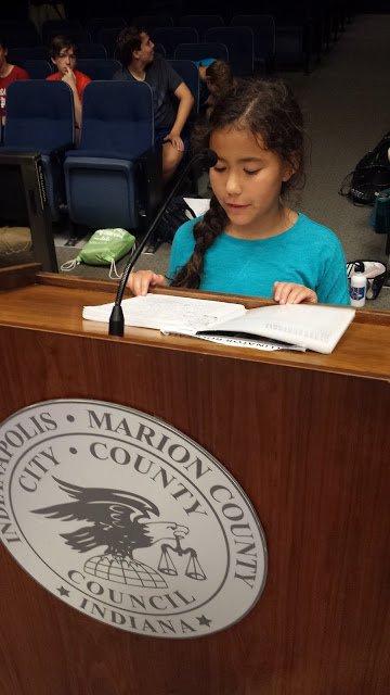 Hikari gives her testimony.