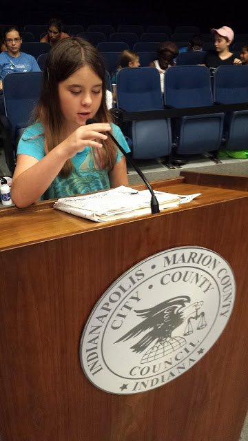 Lilith takes her turn at the mic.