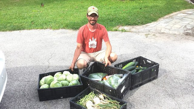 Thanks to Tyler Gough at Indy Urban Acres for donating so much tasty produce for our vegan lunches.