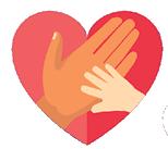 social justice hands in heart